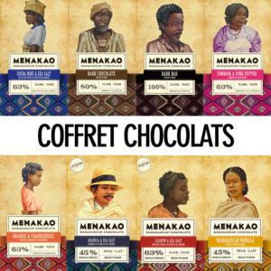Coffret 8 tablettes de chocolat